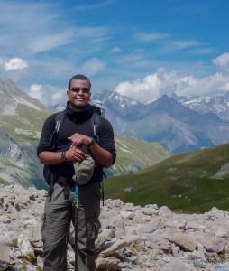 Eric dans les Alpes