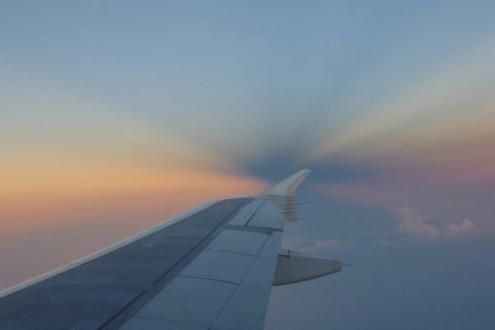 vue du ciel depuis un avion