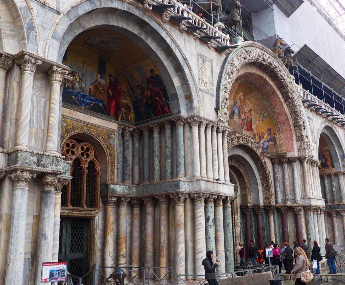 Entrée de la basilique San Marco