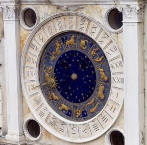 cadran de la tour de l'horloge à San Marco