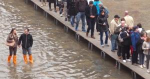 touristes marchant à San Marco
