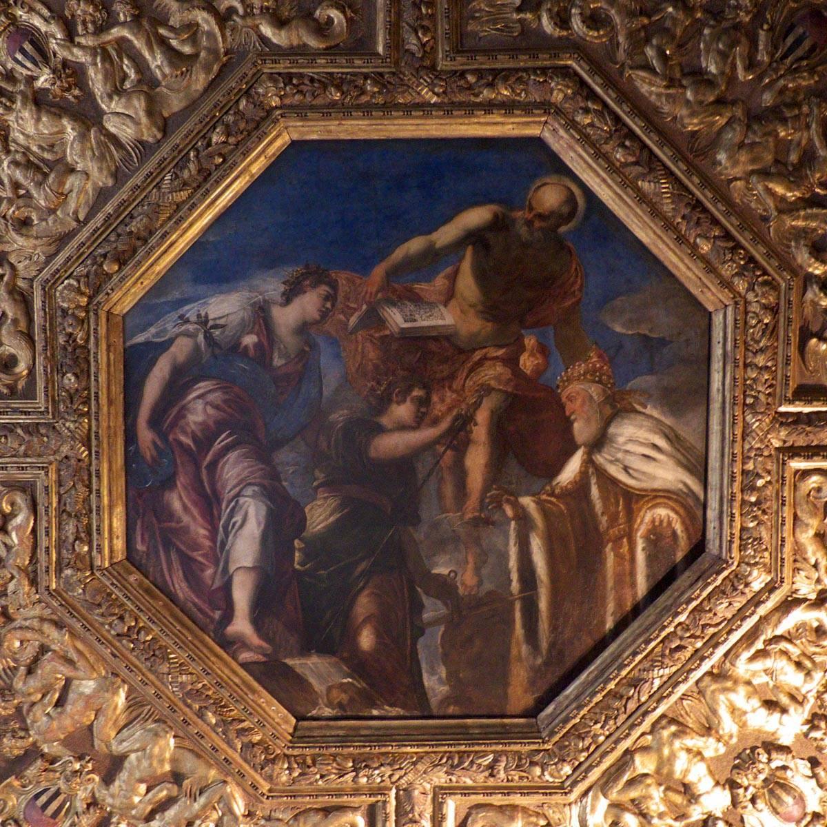 Détail d'un plafond du palais de doges