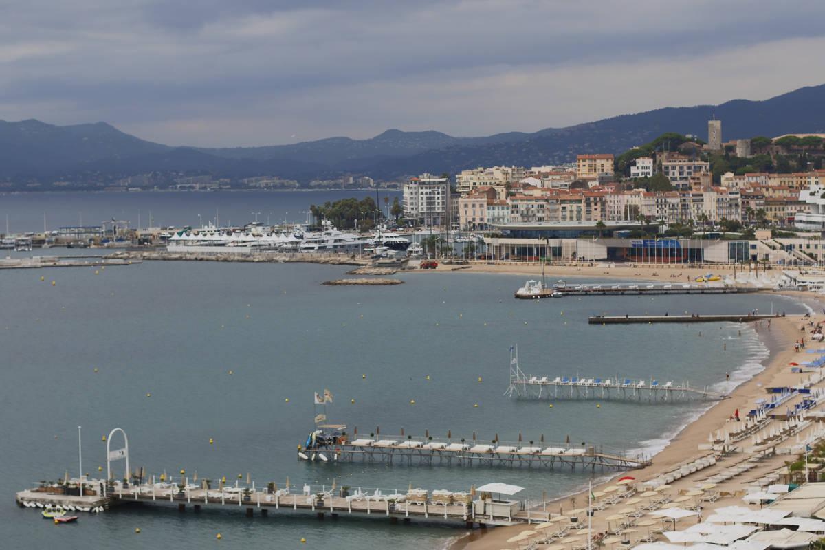 Vue depuis la suite Grace Kelly à l'intercontinental Carlton à Cannes