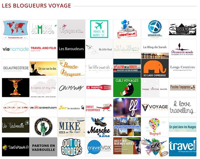 liste des blogueurs du salon des blogueurs de voyage