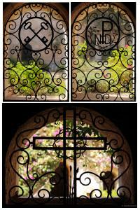 grilles du cloitre de l'abbaye de Lerins