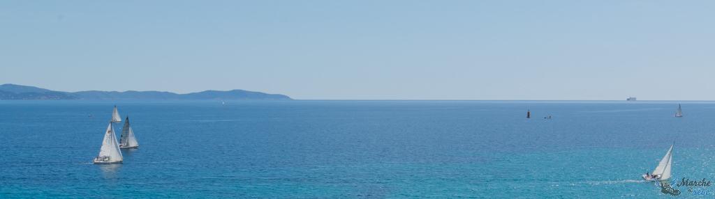 Vue sur la plage depuis l'hotel impérial Ajaccio