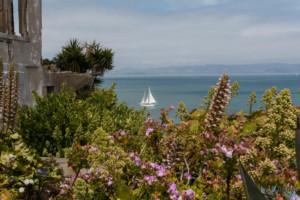 Vue sur l'eau depuis l'Ile d'Alcatraz
