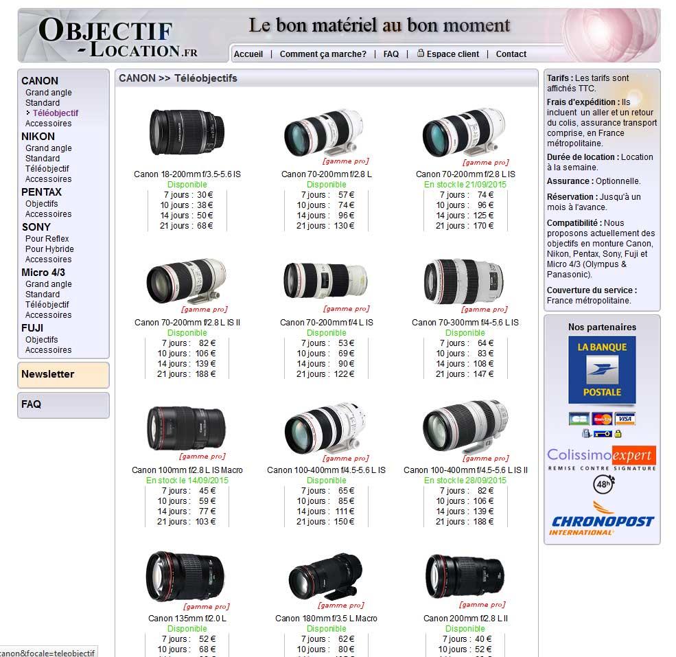 capture du site objectif-location