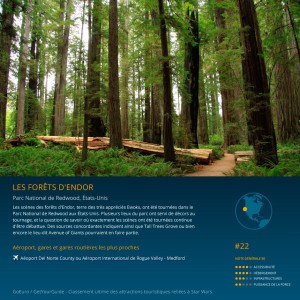 Forêt Endor Star wars