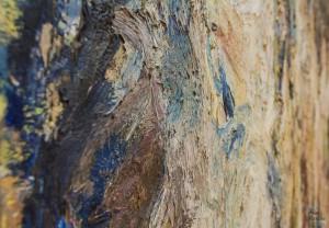 detail d'un tableau au muba eugène leroy