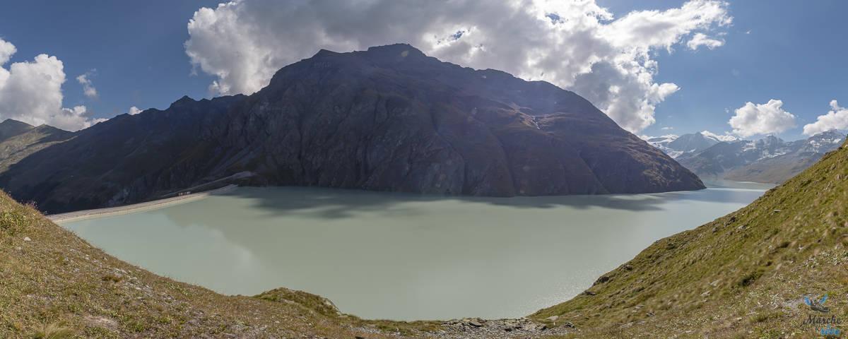 vue sur le barrage de la grande dixence