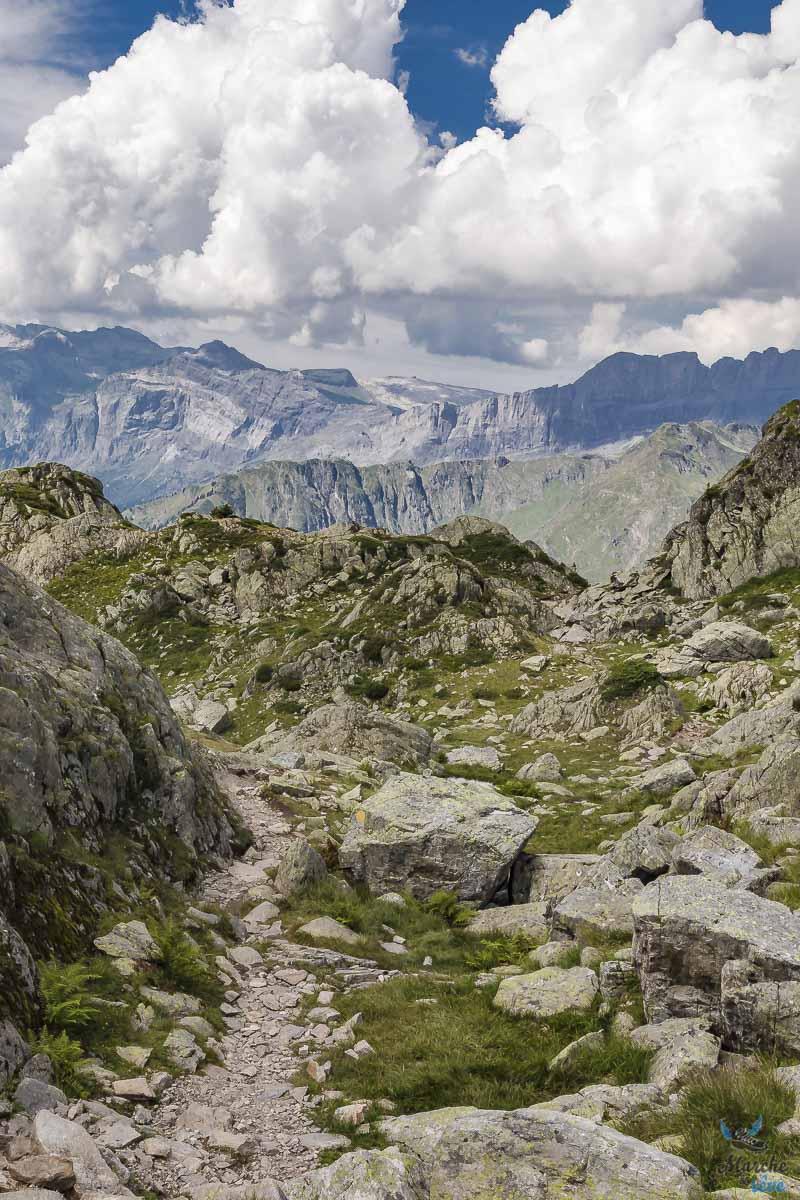 descente vers le lac du Brévent