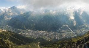 vue sur massif mont blanc