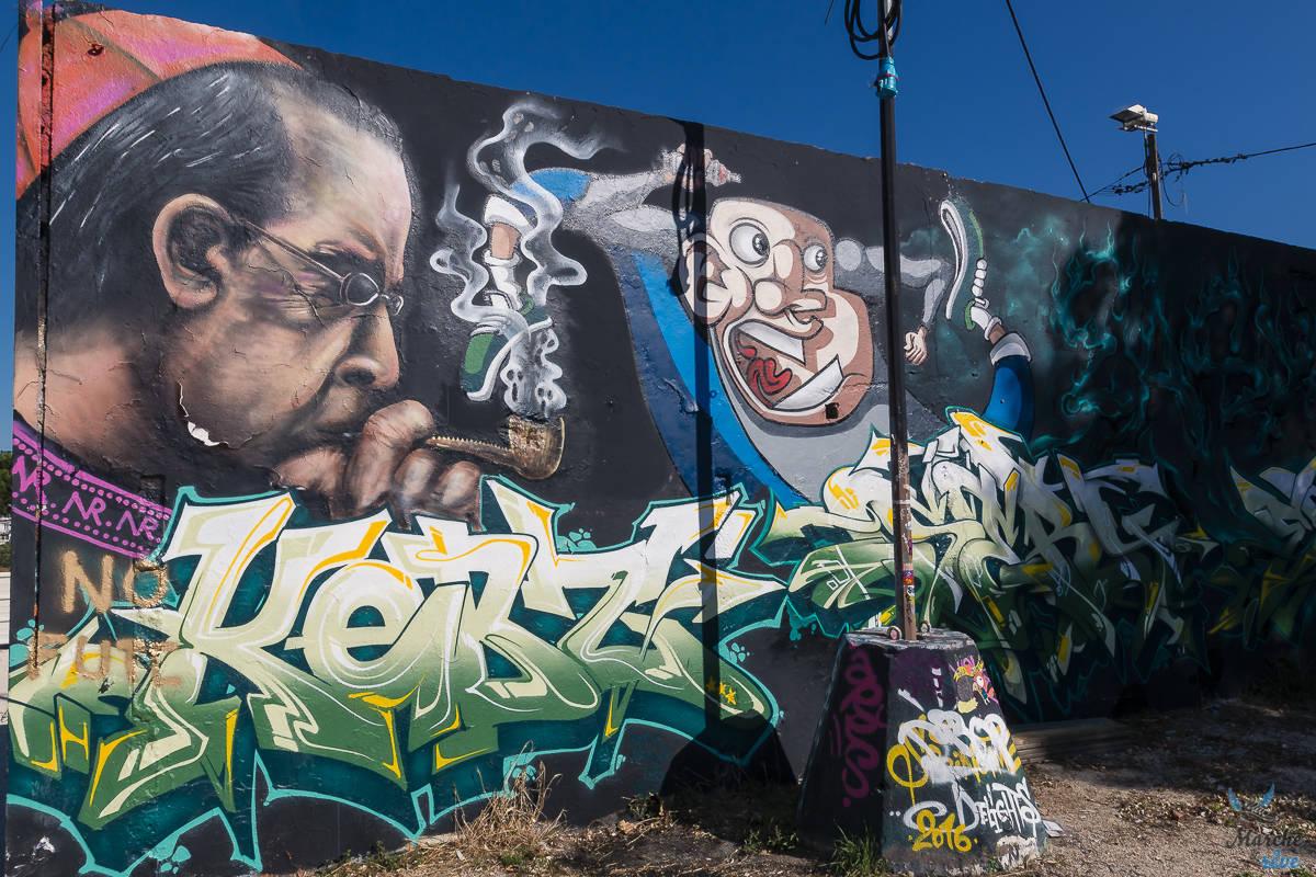 streetart dans la friche du Gabut à la Rochelle