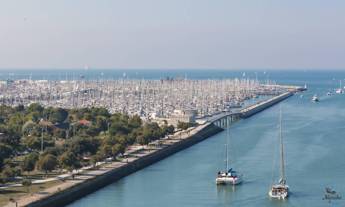 Port des minimes depuis la tour Saint Nicolas