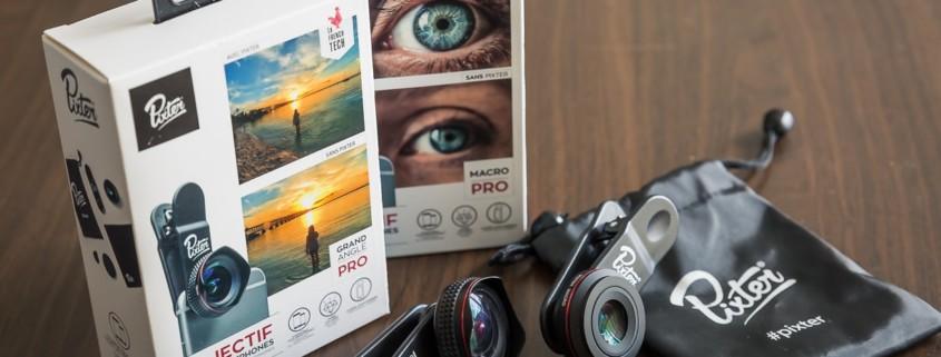 objectifs pour smartphone Pixter grand angle et macro