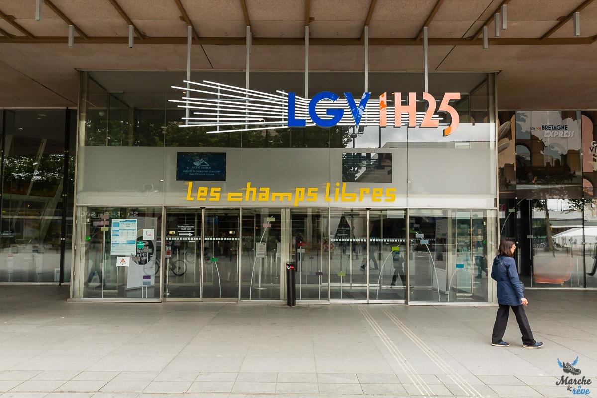 Exposition #LGV1h25 aux champs libres de Rennes