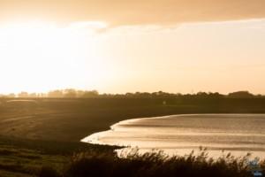 Coucher de soleil au Lac du Der