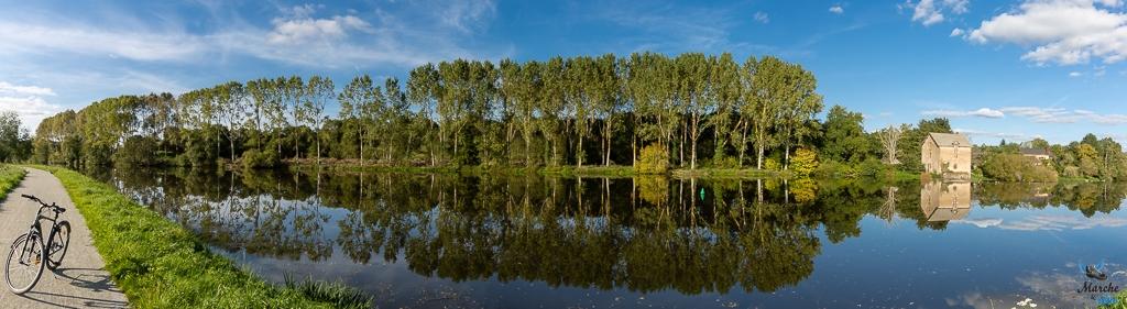 reflets de Mayenne entre Laval et Château-Gontier